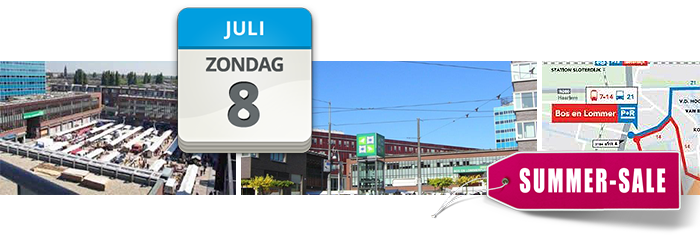 stoffenmarkt Bos en Lommer Amsterdam