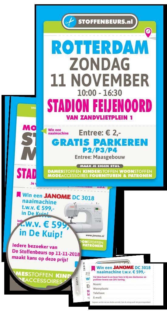 naaimachine winnen stadion Feijenoord Rotterdam