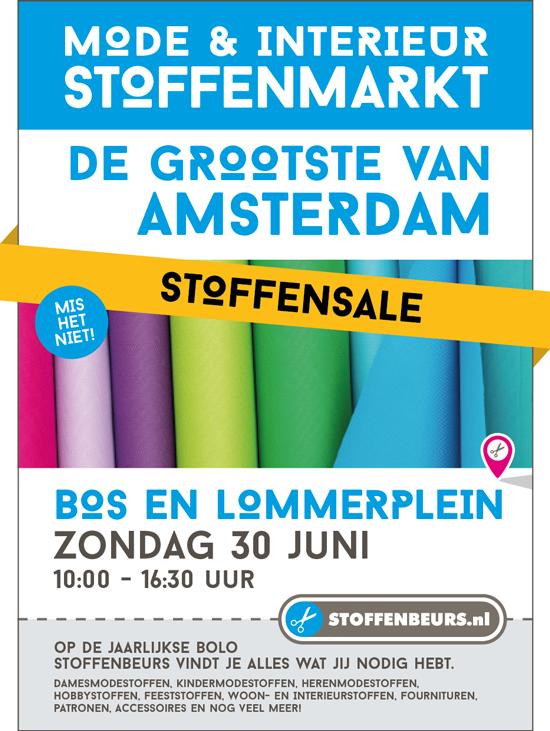 stoffenmarkt Bos en Lommerplein Amsterdam