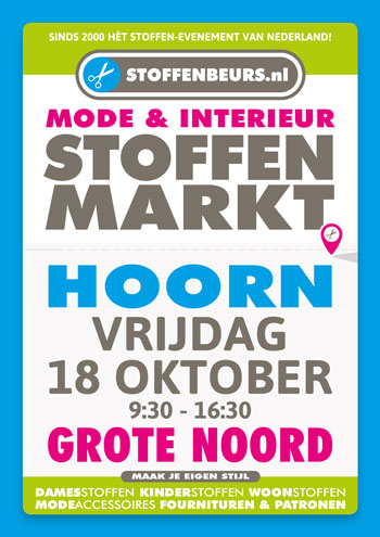stoffenmarkt Hoorn 18 oktober